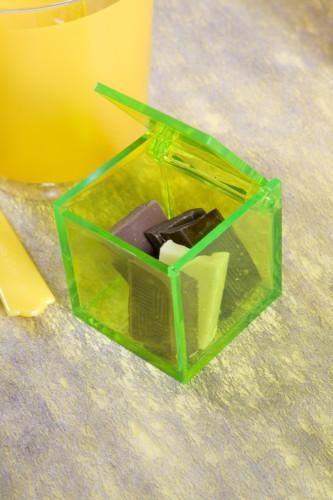4 Boîtes cube verte-1