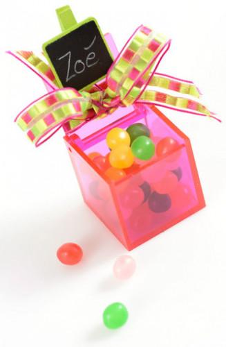 4 Boîtes cube Fuchsia -2