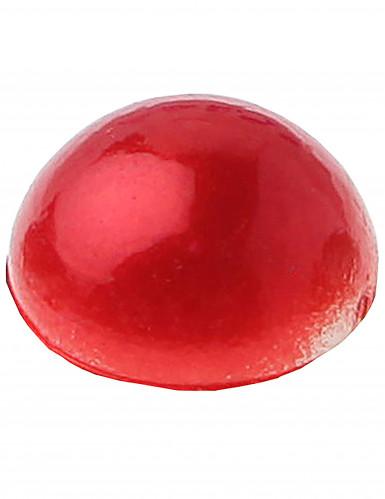 60 Perles autocollante rouge 7 mm-2