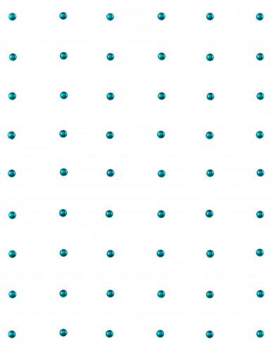 60 Perles autocollante Turquoise-1