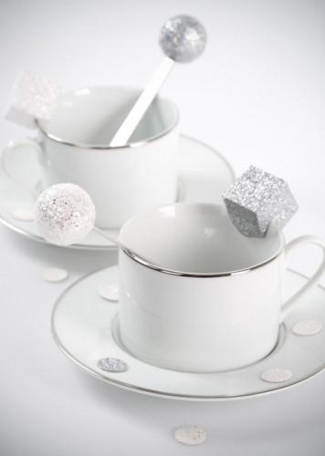 50 Confettis de table pailletée Argent-1