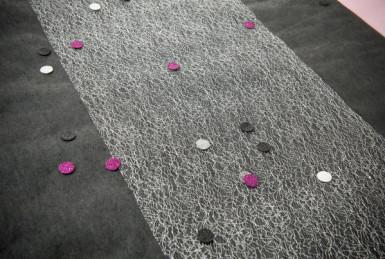 50 Confettis de table pailletée Noir-1