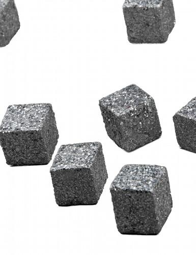 Cube pailletée Argent-2