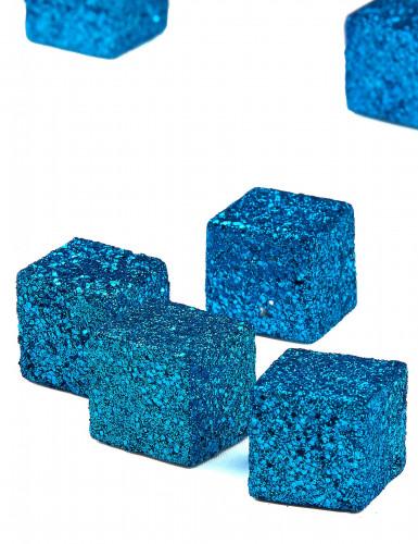12 Cubes pailletés turquoise-1