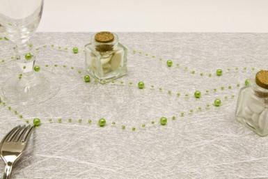 Guirlande de perles vert anis