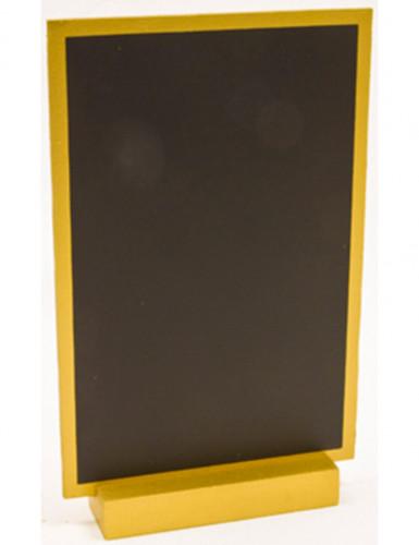 Ardoise noire et dorée 18 cm x 12 cm