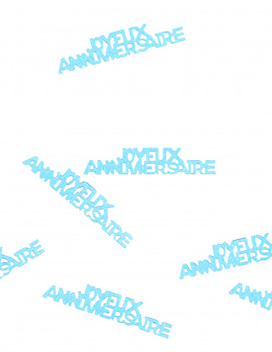 Confettis de table Joyeux Anniversaire turquoise