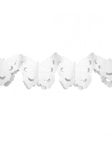 Guirlande papier papillons blanc 4 m
