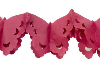 Guirlande papier papillons bordeaux 4 m
