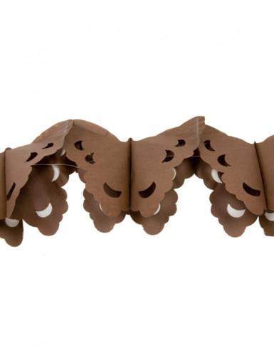 """Guirlande papier """"Papillons"""" marron 4 m"""