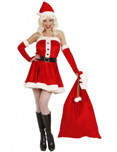 Hotte rouge Père Noël-1