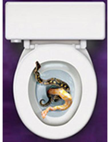 Décoration autocollante pour abattant de wc Serpents-1