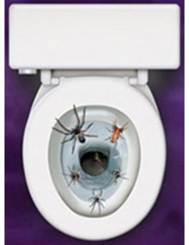 Décoration autocollante pour abattant de wc Araignées-1