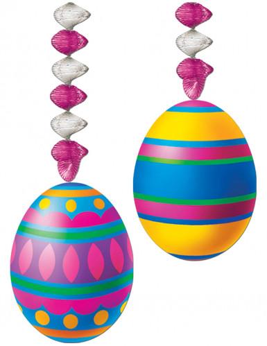 2 Décorations à suspendre accordéon oeufs de Pâques