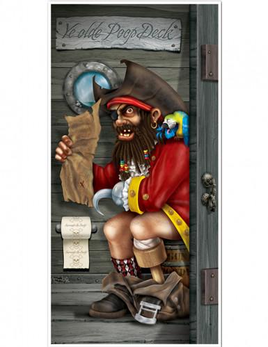 Décoration de porte Pirate au toilette