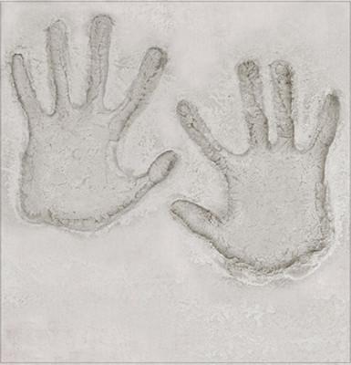 Décoration murale empreinte de mains