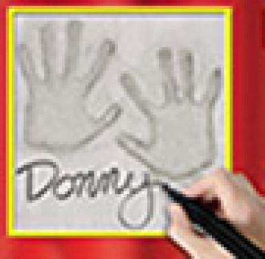 Décoration murale empreinte de mains-1