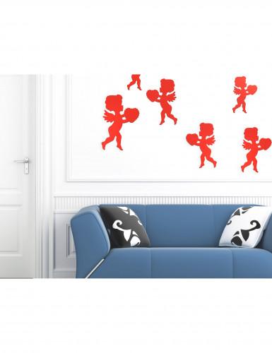 6 décorations rouges motif Cupidon-1