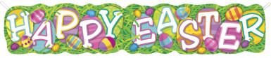 Bannière carton Pâques