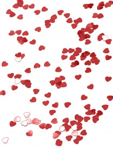 Confettis coeurs métallisés rouge-1