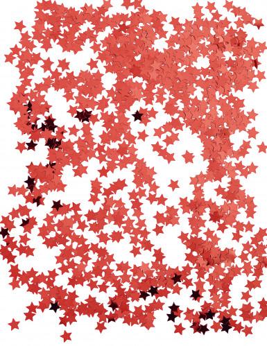 Confettis étoiles métallisés rouge-1