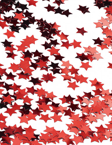 Confettis étoiles métallisés rouge-2