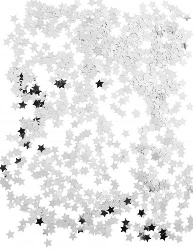 Confettis étoiles métallisés argent-1