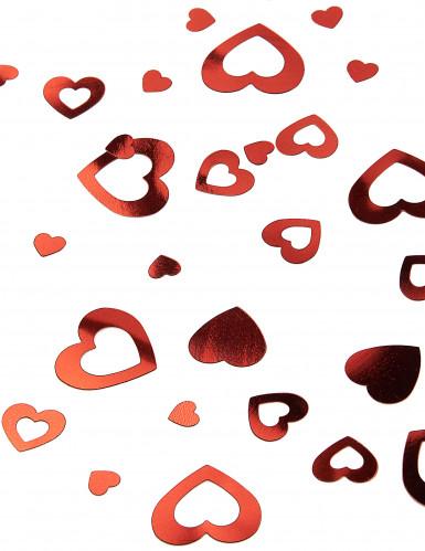 Confettis coeurs rouges Saint Valentin