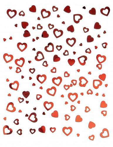 Confettis coeurs rouges Saint Valentin-1