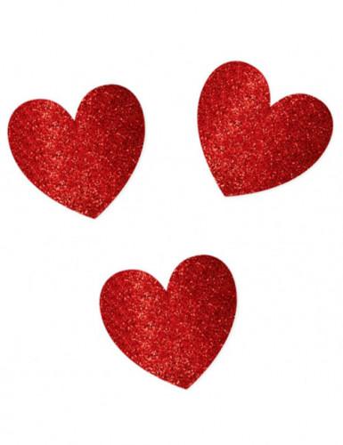 Décorations de table coeurs Saint Valentin