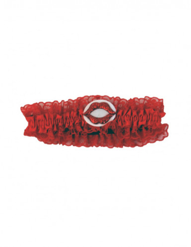 Jarretière rouge Saint Valentin