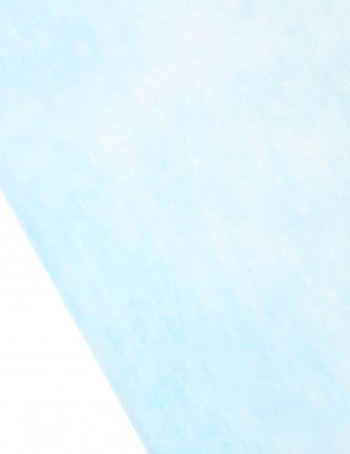 Chemin de table bleu clair 10 m de longueur-1