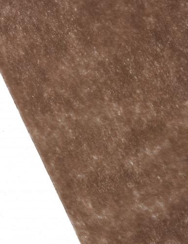 Chemin de table chocolat 10 m de longueur-1