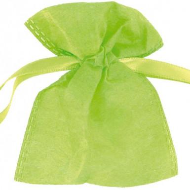 6 sachets intissés verts