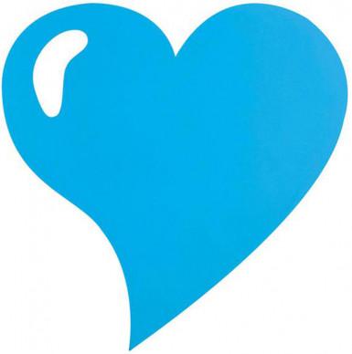 4 Sets de table coeur brillant turquoise