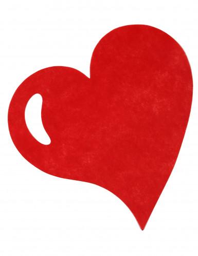 50 Sets de table coeur rouge-1