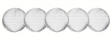 Ronds de serviette boule à facettes argent