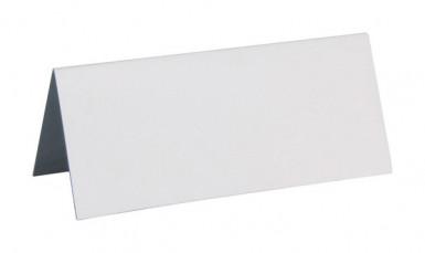 10 Marque-places rectangulaires blancs