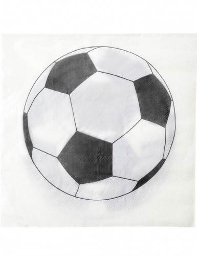 20 Serviettes en papier Ballon football 33 x 33 cm