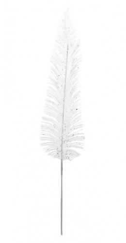 Feuille de palme blanche pailletée