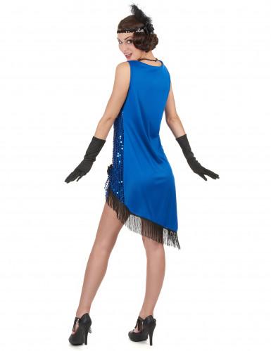 Déguisement charleston sexy femme bleu à sequins-2