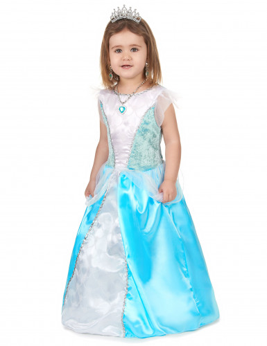 Déguisement princesse bleue fille-1