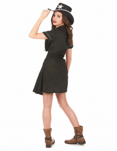 Déguisement cow girl femme robe noire-2
