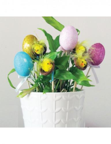 Pics de décoration poussins et oeufs de Pâques