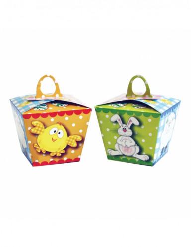 6 Boîtes en carton pour oeufs de Pâques