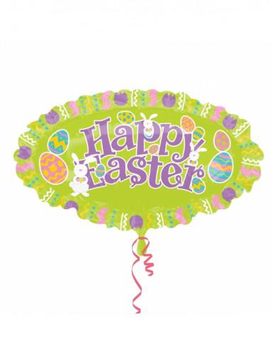 Ballon aluminum ovale Happy Easter Pâques