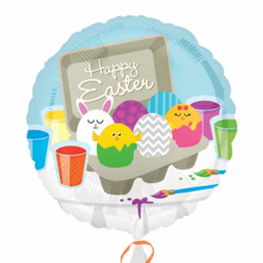 Ballon aluminium de Pâques Happy Easter 43 cm