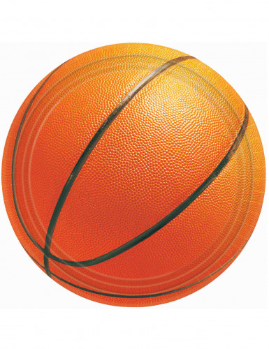 8 Assiettes en carton Basketball 27 cm