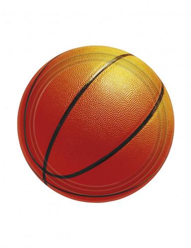 8 Petites assiettes en carton Basketball 18 cm