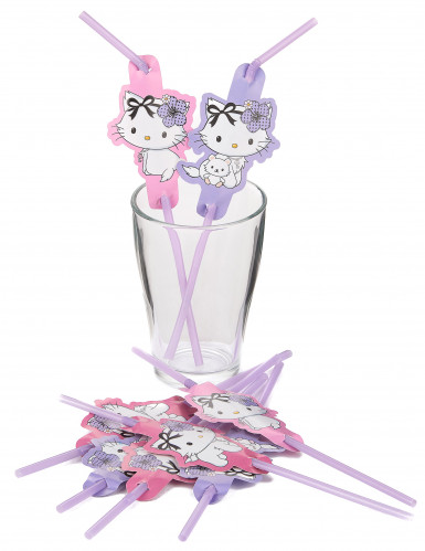 8 Pailles Charmy Kitty coeurs™-1